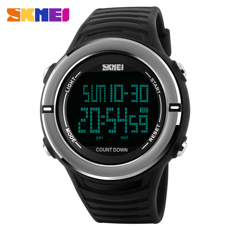 skmei 1209 black original digital wrist watch for men skmei