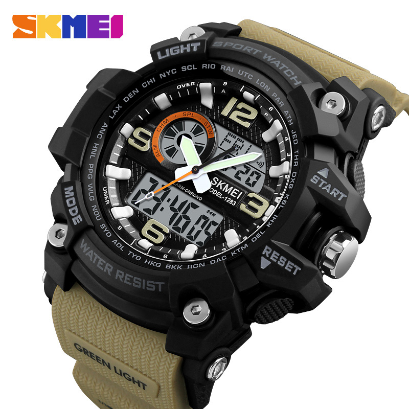 f133c03704b5d Buy SKMEI 1283 Khaki Original Wrist Watch for Men Online Best Price ...